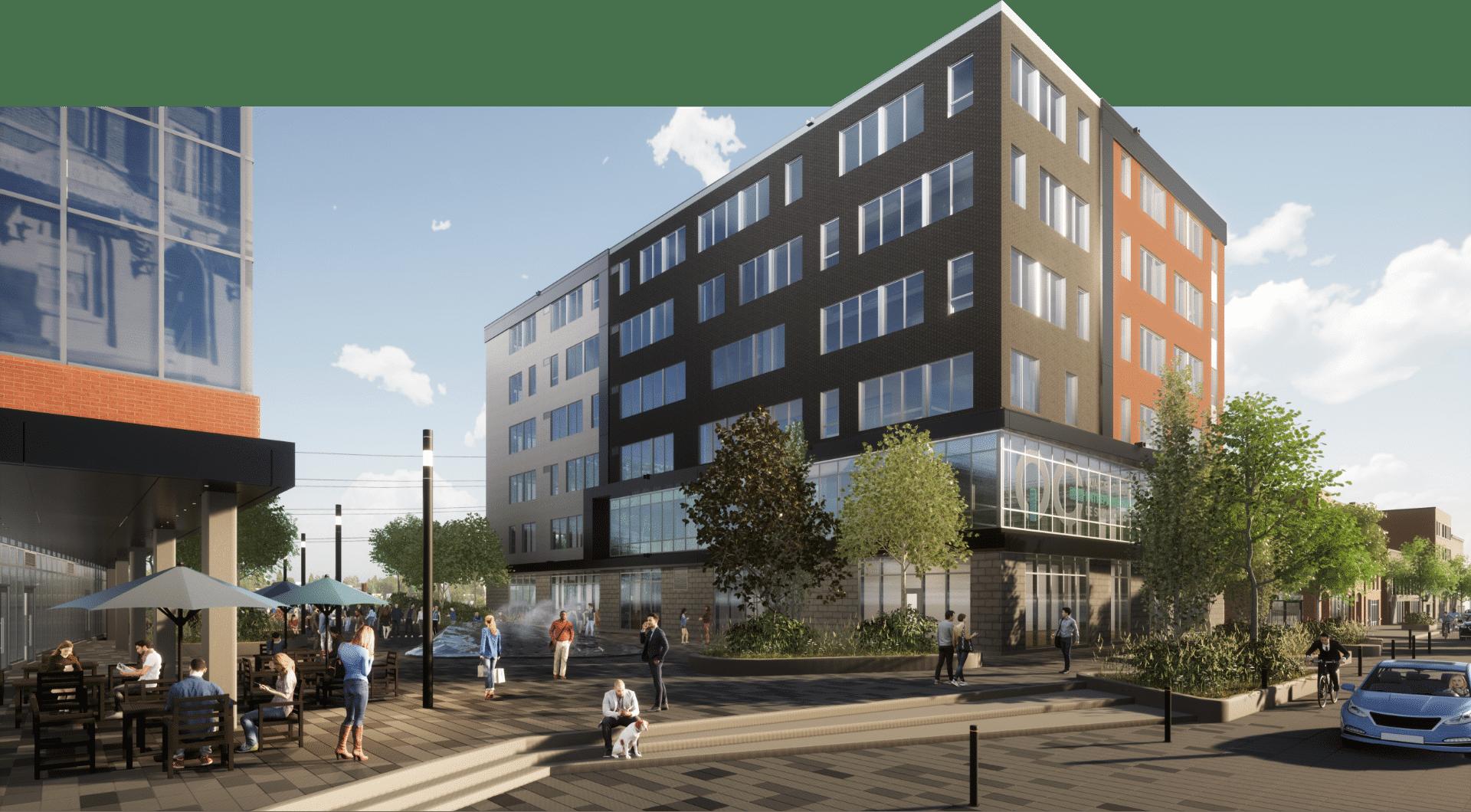 Perspective de Quartier Général de l'entrepreneuriat de Sherbrooke à Espace Centro QG
