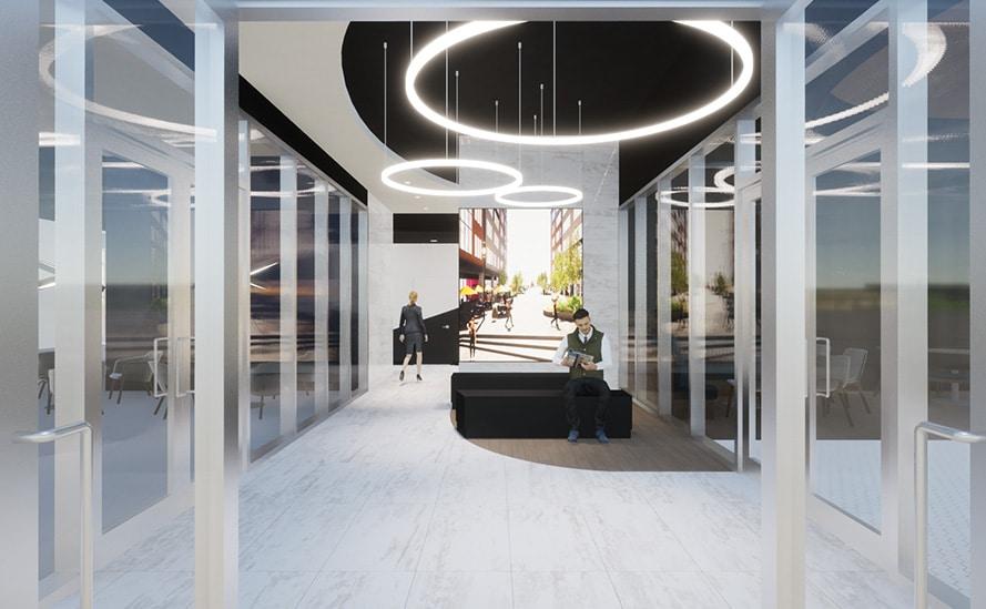 Hall d'entrée prestigieux du MW à Espace Centro